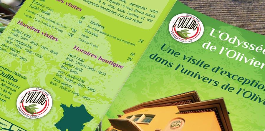 Oulibo - dépliant et édition - DEFACTO agence de communication à Narbonne