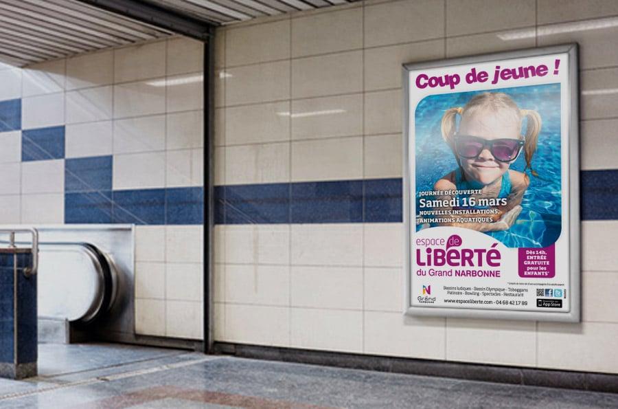 Espace de Liberté - campagne de communication - DEFACTO agence de communication à Narbonne