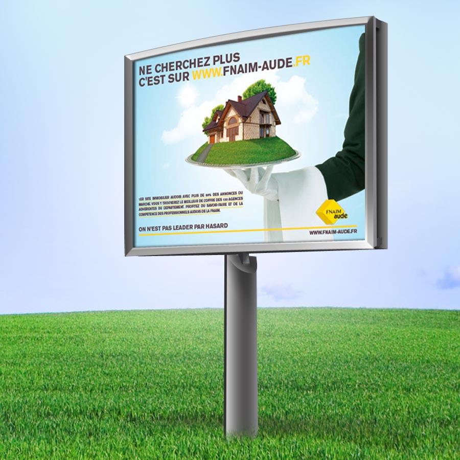 Defacto fnaim campagne de lancement site web for Agence fnaim