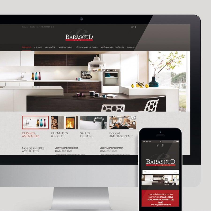 Barascud - site internet responsive design - DEFACTO agence de communication à Narbonne