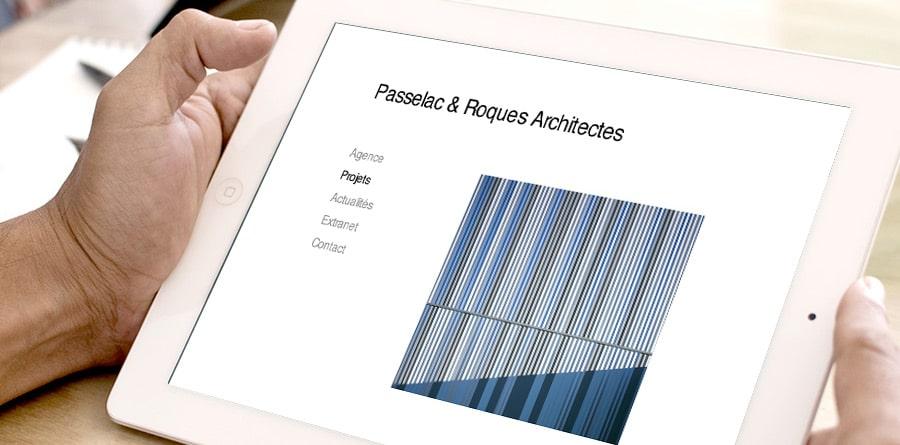 Passelac et Rocques - site internet - DEFACTO agence de communication à Narbonne