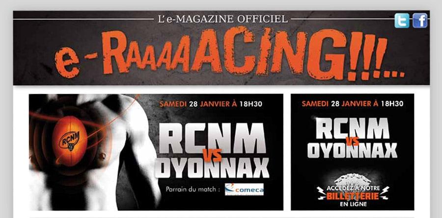 RCNM - E-mailing et Newsletter - DEFACTO agence de communication à Narbonne