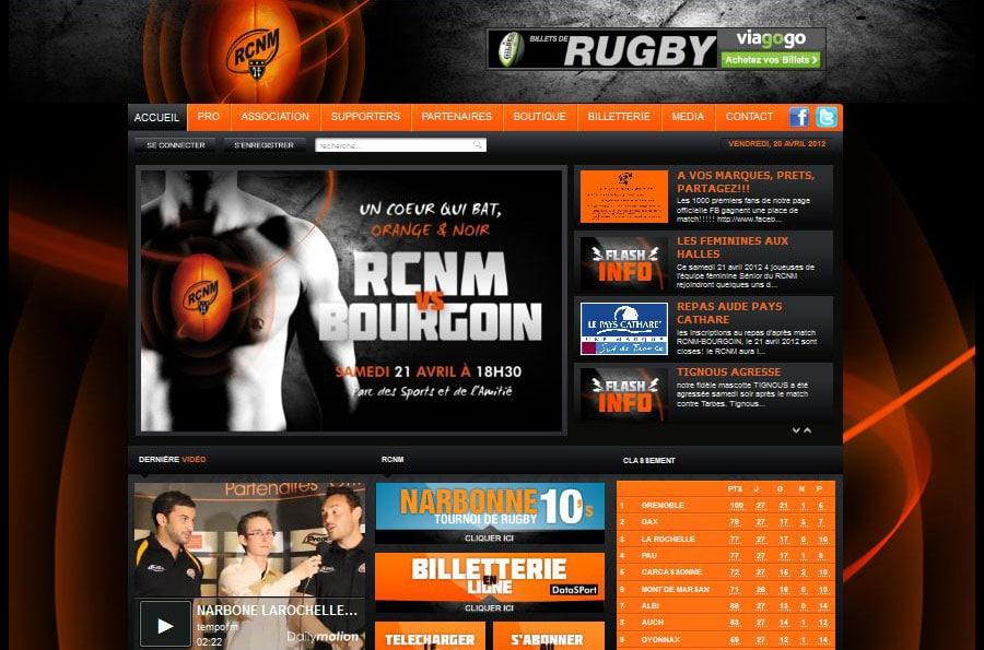 RCNM - site internet - DEFACTO agence de communication à Narbonne