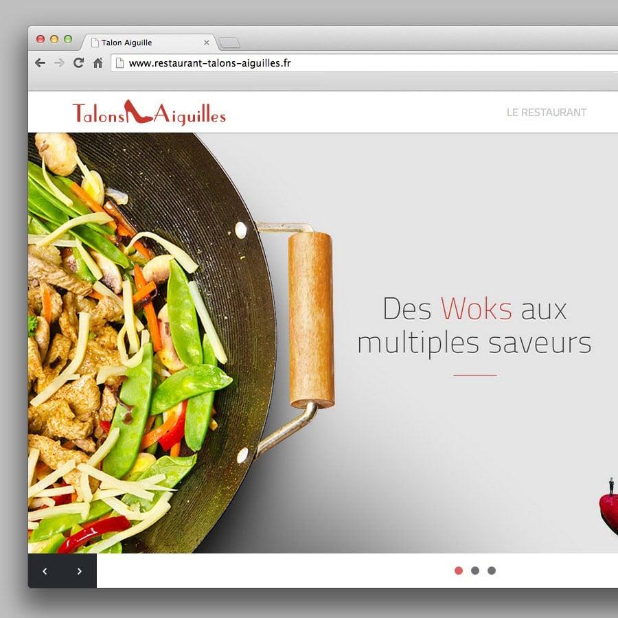 Talon Aiguilles - site internet responsive design - DEFACTO agence de communication à Narbonne