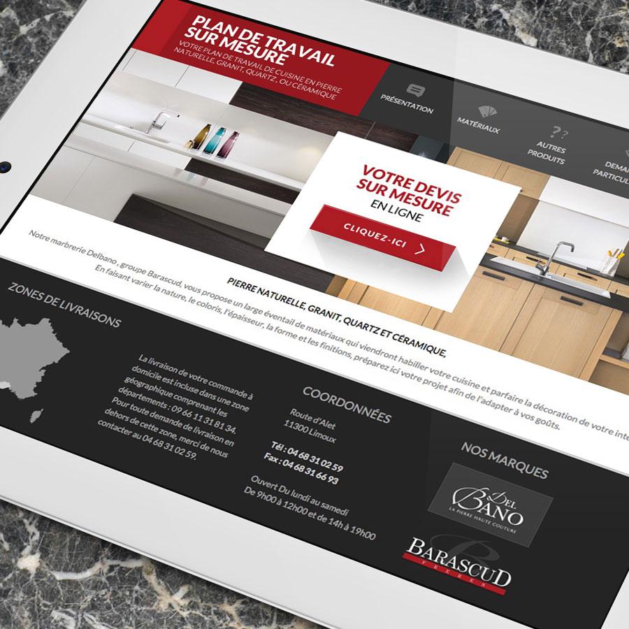 Defacto agence de communication Narbonne - Devis en ligne Del bano - site web