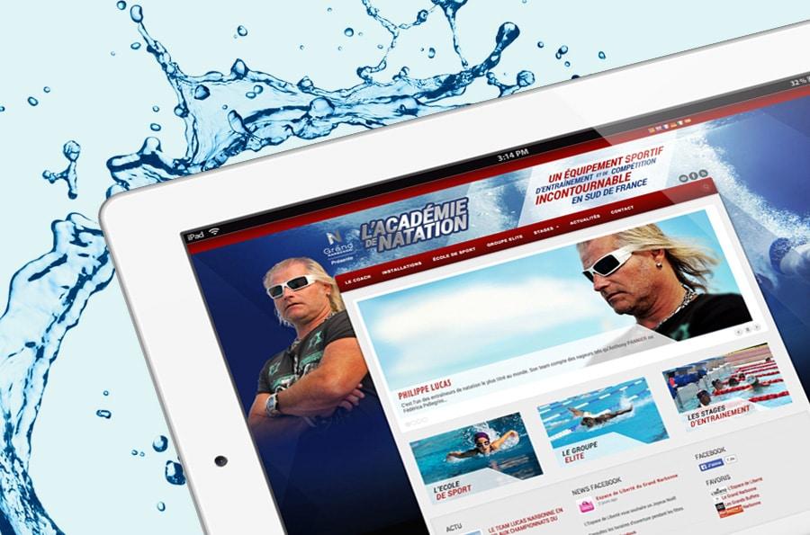 Philippe Lucas - Academie de natation - Defacto agence de communication narbonne