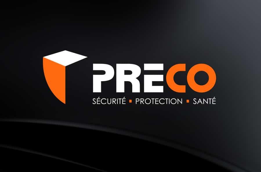 Préco - logo réalisé par Defacto agence de communication à Narbonne