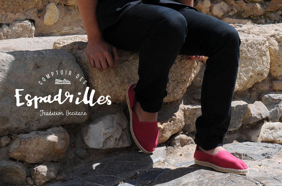 Defacto agence de communication Narbonne - Comptoir des Espadrilles - refonte site