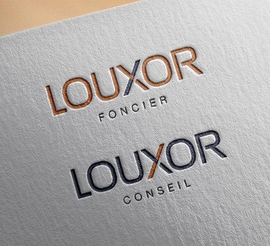 Defacto agence de communication Narbonne - Louxor - logo et charte graphique