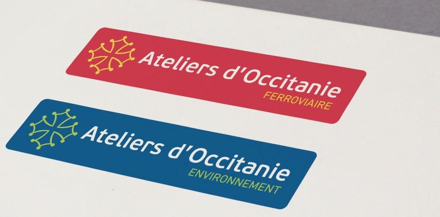 Defacto agence de communication Narbonne - Ateliers dOccitanie - refonte Identité