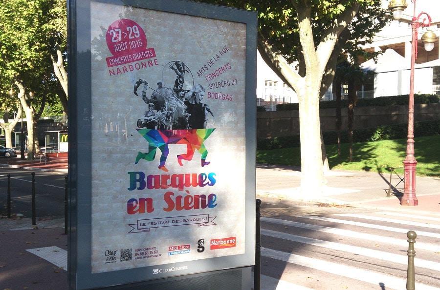 Defacto agence de communication Narbonne - Festival Barques en Scène - Campagne de communication