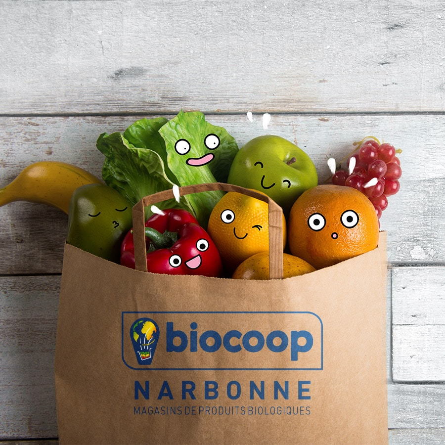 Biocoop campagne de communication Defacto - biotonomes 1