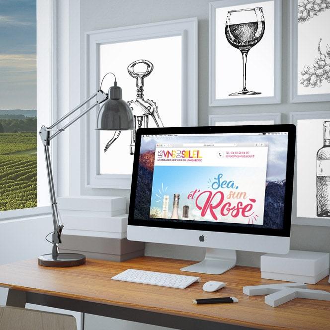 Defacto - Agence de communication Les Vins du soleil - Communication emailing