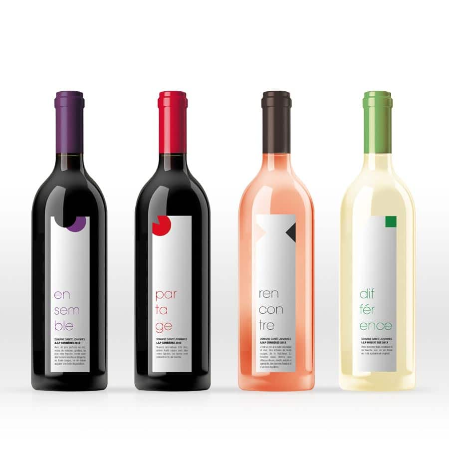 Sainte Johanes - étiquettes de vin édition - DEFACTO agence de communication à Narbonne