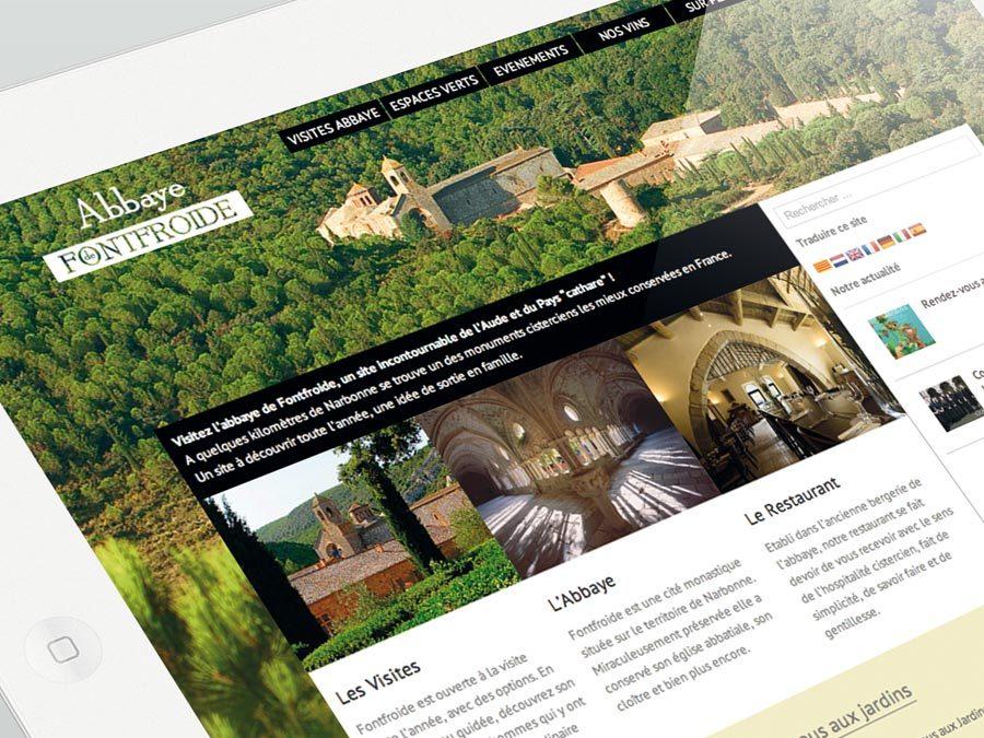 L'Abbaye de Fontfroide – Site Web