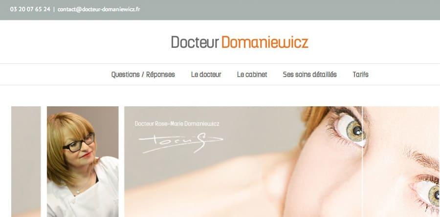 Docteur Domaniewicz - site internet responsive design - DEFACTO agence de communication à Narbonne