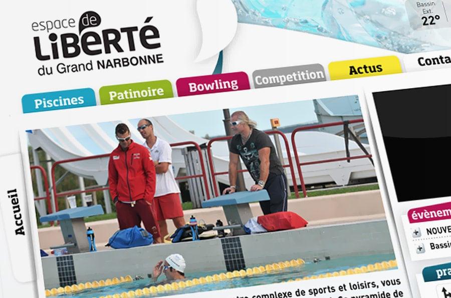Espace de Liberté - site internet - DEFACTO agence de communication à Narbonne