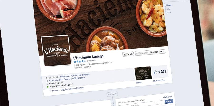 L'Hacienda - Facebook et réseaux sociaux - DEFACTO agence de communication à Narbonne