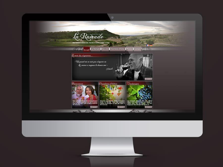 Domaine de la Ramade – Site Web