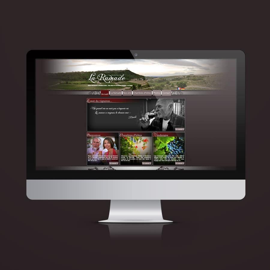 Domaine de la Ramade - site internet - DEFACTO agence de communication à Narbonne