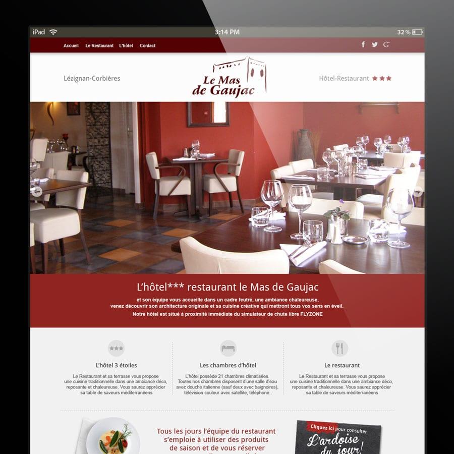 Le Mas de gaujac - site internet responsive design - DEFACTO agence de communication à Narbonne