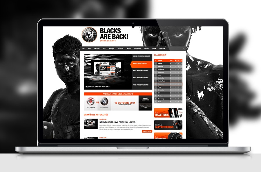 Narbonne Volley Club – Site web