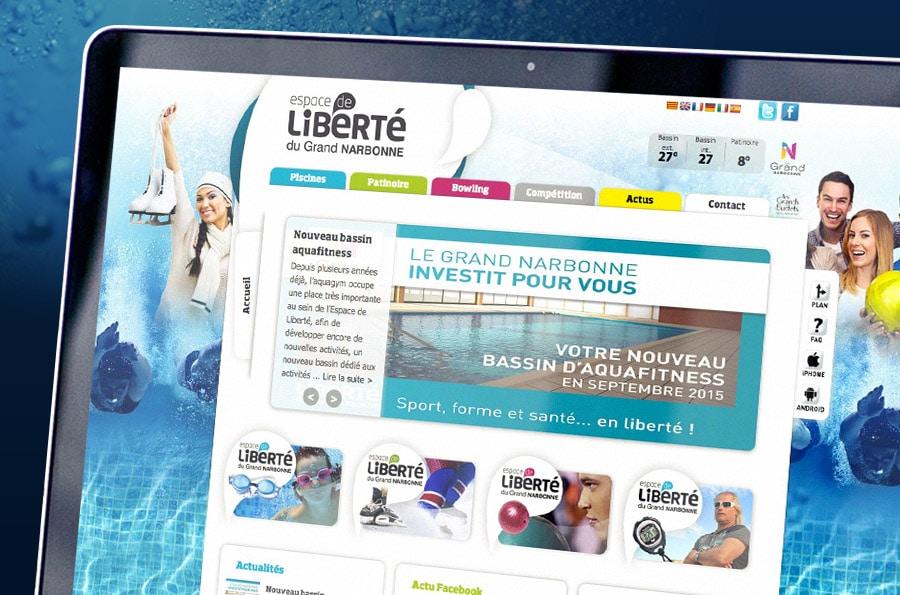 Espace de Liberte - Defacto - Narbonne - digital- refonte site