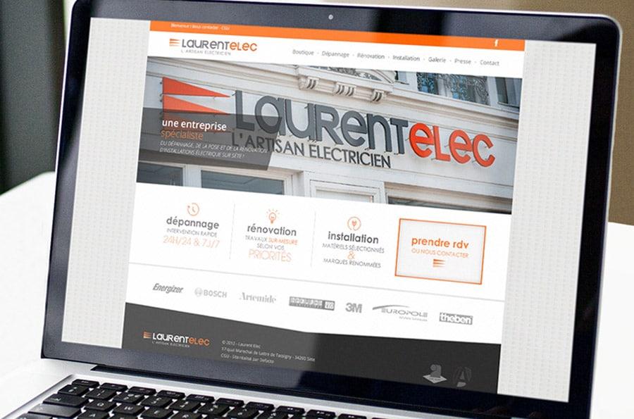 Laurent Elec – refonte de site internet