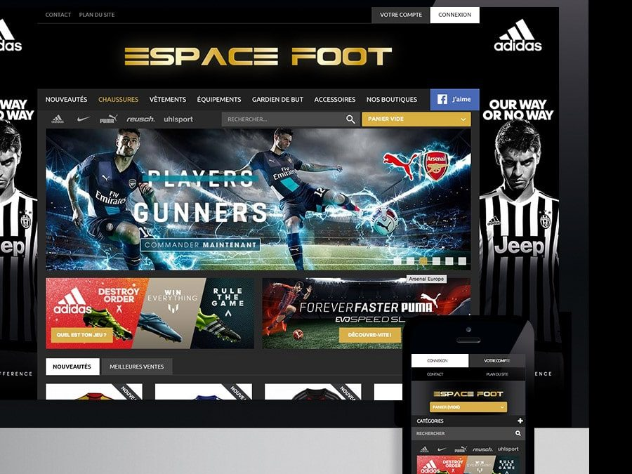 Espace Foot – webdesign