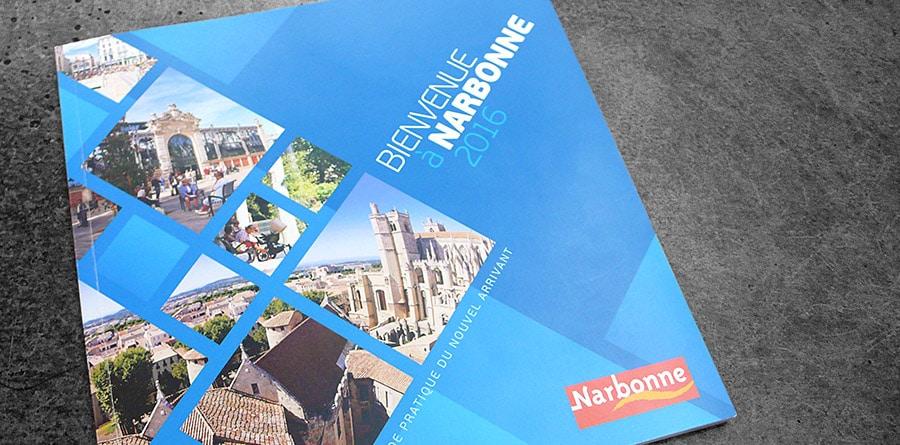 Création du Guide du Nouvel Arrivant - Agence de communication Defacto à Narbonne - Mairie de Narbonne