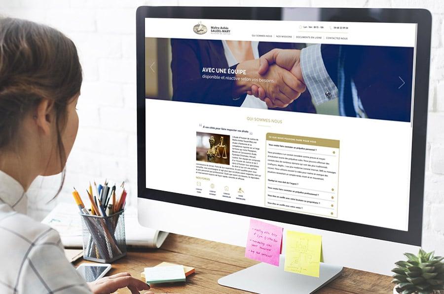 Defacto agence de communication à narbonne - site internet huissier de justice