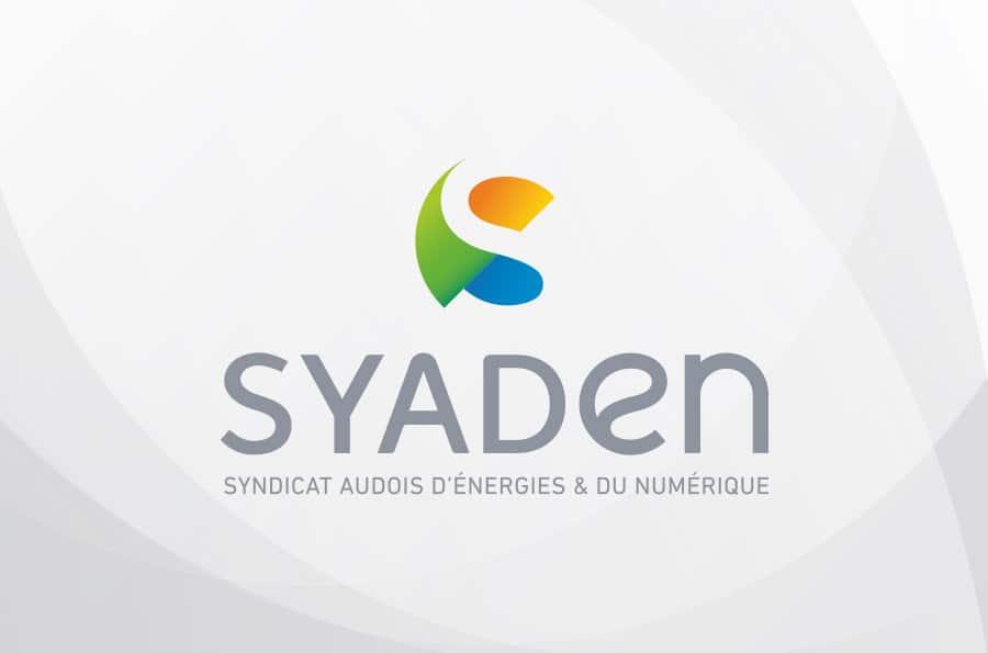 Defacto - agene de communication à Narbonne - refonte du logo et de l'identite visuelle du SYADEN