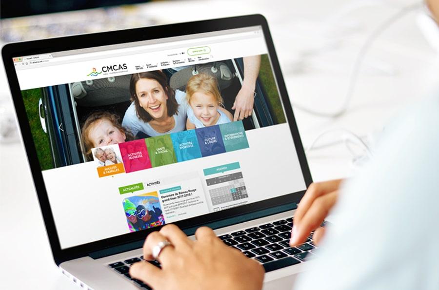 CMCAS - site web responsive design -desktop