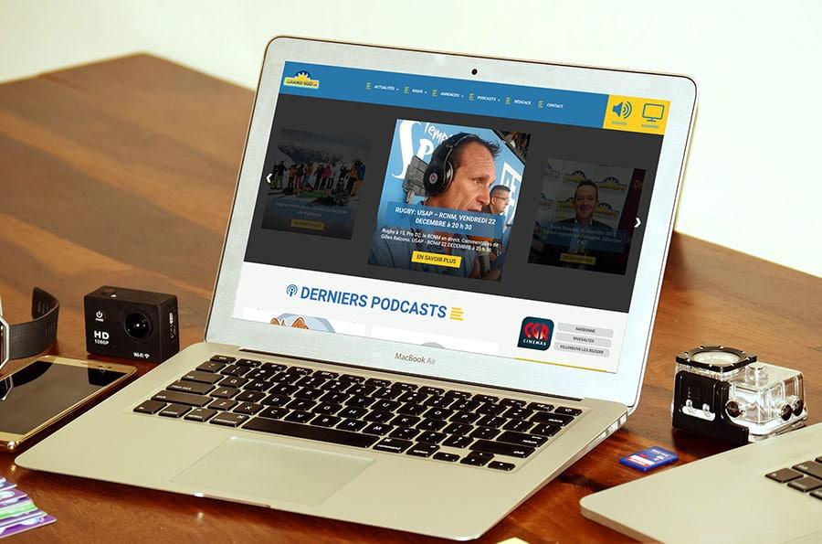 studio defacto refonte site web grand sud fm