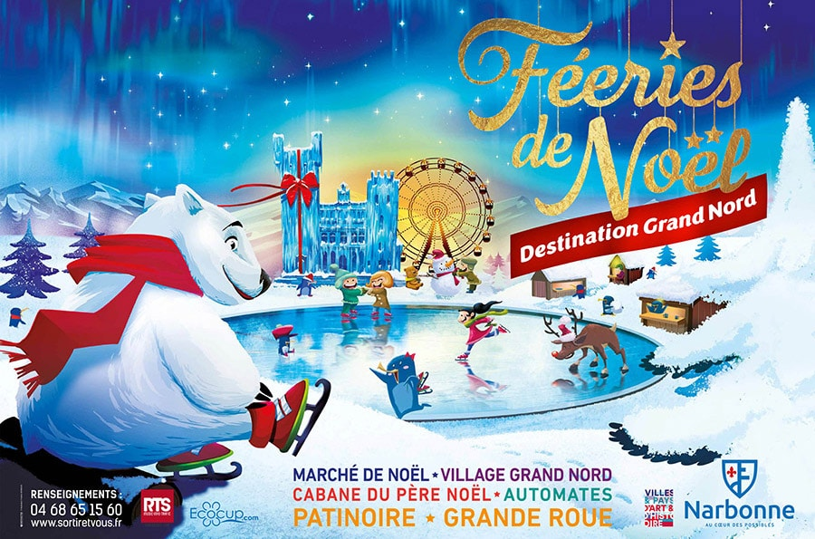 VILLE DE NARBONNE – COMMUNICATION FEERIES DE NOËL 2017