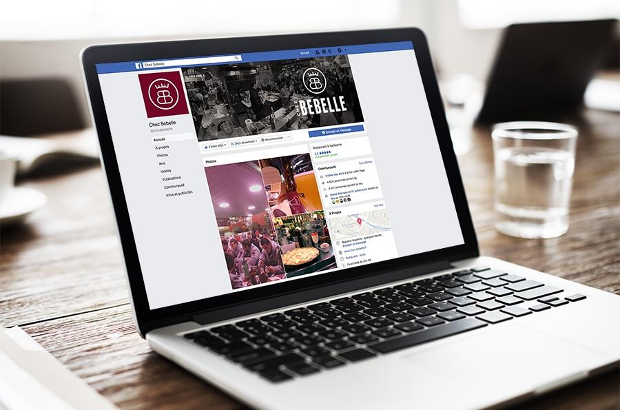 Defacto agence de communication à Narbonne - Facebook - Chez Bebelle