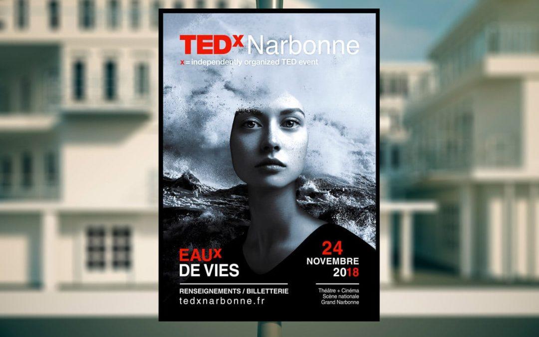 TEDx Narbonne site et campagne de communication