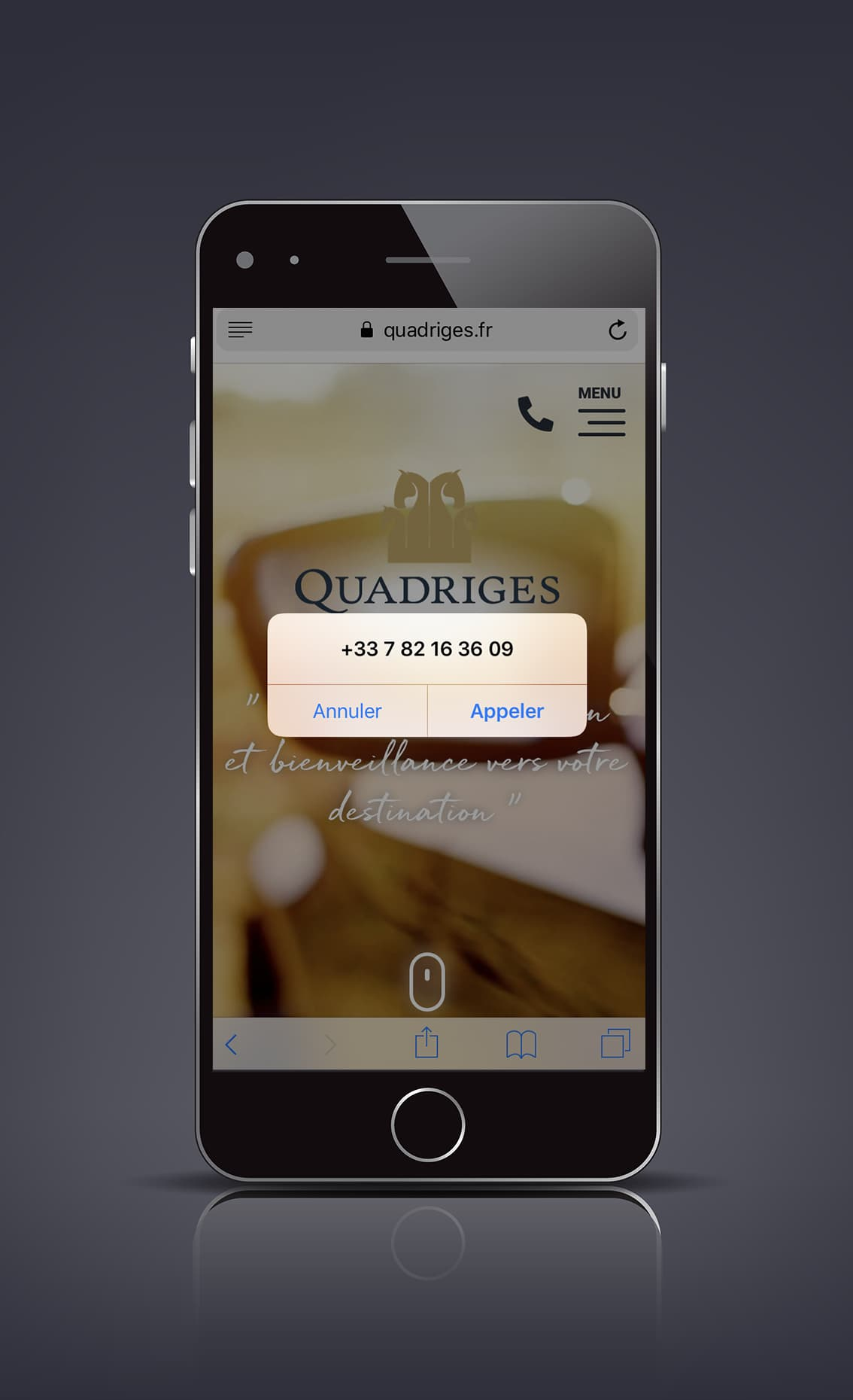 DEFACTO Design de marque - Mockup Digital Quadriges – Communication