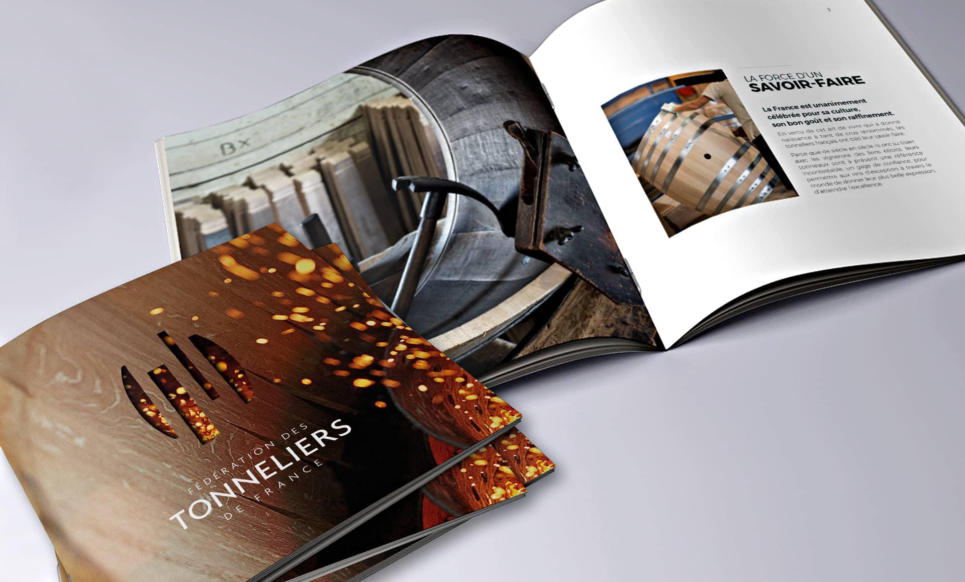 DEFACTO Design de marque - Mockup Design de Marque Fédération des Tonneliers de France – Communication