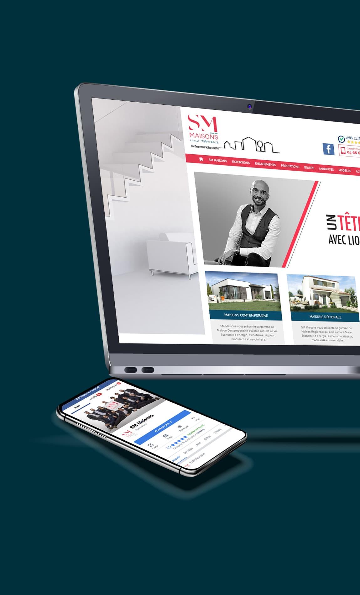 DEFACTO Design de marque - Mockup Digital GROUPE SM